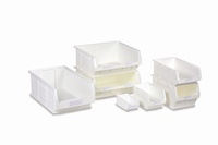 Topstore - White Antibacterial TC Semi-Open Fronted Containers: click to enlarge