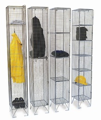 Wire Mesh Lockers: click to enlarge