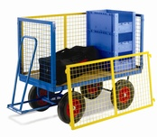 Turntable Trailer with Mesh Cage Supports - MDF Deck