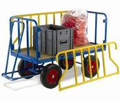Turntable Trailers with Tubular Supports - MDF Deck