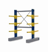 Double Sided BCR100 series Cantilever Racking - Height 2052mm