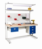 Heavy Duty Workbench with Solid Beech Worktops