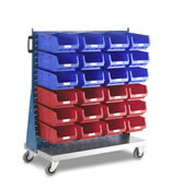 Topstore - Single Sided Louvred Panel Trolley TC Bin Kits
