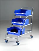 Topstore - Braked Angled Container Trolleys