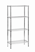 Eclipse Chrome Wire Shelving - Complete Bays with Chrome Finish