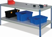 Rivet Workbenches c/w Full Undershelf - MFC Top