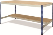 Rivet Workbenches c/w T-Bar/Half Undershelf - MFC Top