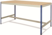 Rivet Workbenches c/w T-Bar/Half Undershelf - Chipboard Top