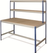 Rivet Workstations c/w T-Bar/Half Undershelf - MFC Top
