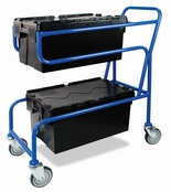 Topstore - Double Container Trolley with Economy Euro Containers